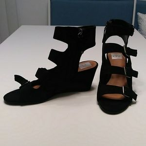 New DV Black Strappy Wedges, From Target, Size 9